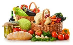 Picture basket, vegetables, baton, conservation
