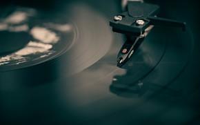Picture macro, player, vinyl, record
