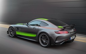Picture Mercedes-Benz, speed, rear view, AMG, PRO, GT R, 2019