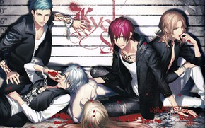 Picture style, blood, the game, group, doll, anime, guys, Dynamic Chord