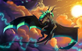 Wallpaper mlp at, the storm is coming, Princess Celeste, volsinii pony, fan at, The Thunder Before ...