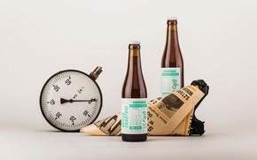 Picture bottle, pressure gauge, bag, Gzub Craft Brewery, Beer Design