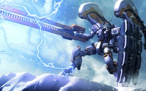 Picture weapons, lightning, Robot, Mobile Suit Gundam