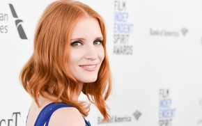 Picture look, pose, smile, makeup, actress, photoshoot, hair, Jessica Chastain, Jessica Chastain