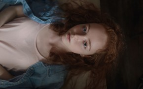 Picture sponge, redhead, curls, Aleks Five