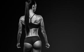 Picture model, pretty, back, fitness