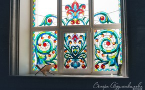 Picture pattern, window, mosque, mural