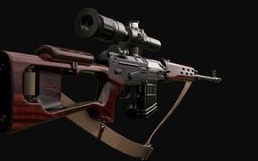 Wallpaper Classic, SVD, Dragunov sniper rifle