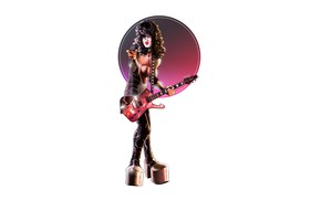 Picture Minimalism, Guitar, Style, Rock, Art, Style, Rock, Musician, Musician, Illustration, Minimalism, Paul Stanley, Paul Stanley, …