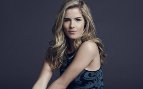 Picture look, girl, pose, hair, blonde, beautiful, Emily Bett Rickards