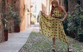 Picture girl, street, model, dress, Francesca