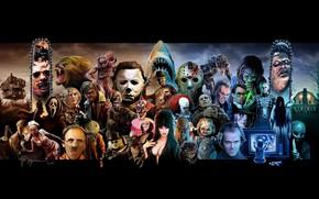 Picture Fly, Movie, Halloween, Jason Voorhees, Werewolf, Lights, Creek, Art, Horror, Freddy Krueger, Hellraiser, A nightmare …
