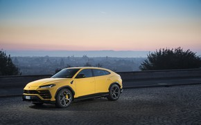 Picture sunset, the evening, Lamborghini, Italy, 2018, crossover, Urus