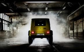 Picture light, yellow, Mercedes-Benz, SUV, rear view, 4x4, G500, G-Class, 2015, G 500, 4x4², V8 biturbo