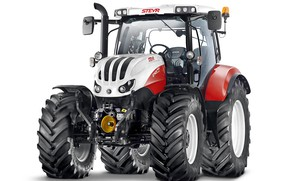 Picture tractor, white background, Steyr, Professional, 6145