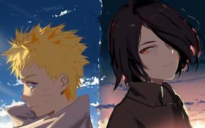 Picture Naruto, boys, Uchiha Sasuke, Uzumaki Naruto