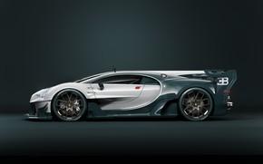 Picture Auto, Machine, Bugatti, Supercar, Rendering, Sports car, Side view, Bugatti Chiron, Transport & Vehicles, by ...