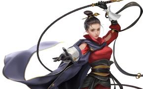 Picture Girl, Style, Asian, Girl, Warrior, Art, Beautiful, Art, Asian, Style, Warrior, Beautiful, Whip, Whip, Jianyachi …