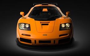 Picture Orange, Supercar, Front view, 1995, McLaren F1 LM