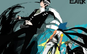 Picture girl, weapons, guns, anime, guys, Soul eater, Soul Eater, Death the Kid