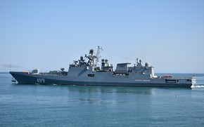 Picture frigate, the project 11356, Admiral Makarov, Author Erne