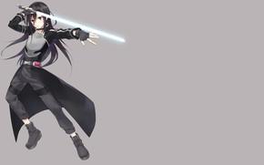 Picture background, sword, art, guy, Sword art online, Sword Art Online, Kirito
