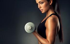 Picture Model, Background, Form, Dumbbells, Fitness