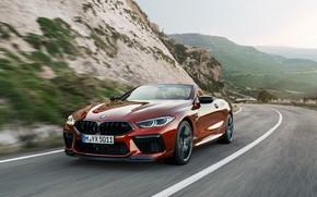 Picture road, asphalt, BMW, convertible, 2019, BMW M8, M8, F91, M8 Competition Convertible, M8 Convertible