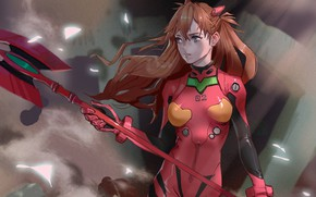 Picture girl, weapons, Evangelion, Evangelion, Asuka Langley Sohryu