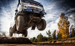 Picture Machine, Speed, Truck, Race, Master, Russia, Kamaz, Rally, Dakar, KAMAZ-master, Rally, KAMAZ, In the air, …