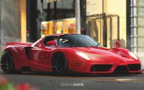 Wallpaper Auto, Machine, Ferrari, Car, Art, Ferrari Enzo, Enzo, Supercar, Concept Art, Sports car, Transport & ...