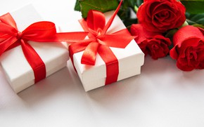 Picture roses, tape, gifts, Valentine's Day, Olena Rudo