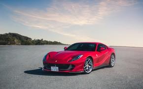 Picture Ferrari, red, Superfast, 812