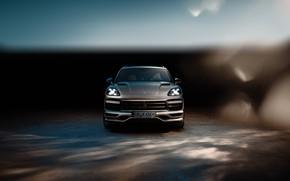 Picture Porsche, front view, Turbo, 2018, Cayenne, TechArt