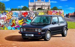 Picture Graffiti, GTI, Volkswagen Golf, Mk 1, Volkswagen AG