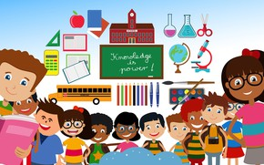 Picture children, school, knowledge, study