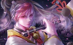 Picture look, weapons, guy, Onmyouji, Onmyouji (NetEase), Minamoto no Hiromasa