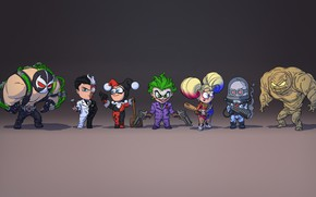 Picture Joker, Joker, Harley Quinn, Two-faced, Two-Face, Comics, Concept Art, DC Comics, Lex Luthor, Bane, Bane, …