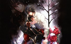 Picture the game, Reflection, anime, art, guy, Queen of the Flowers