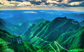 Picture Road, Mountains, Gorge, The slopes