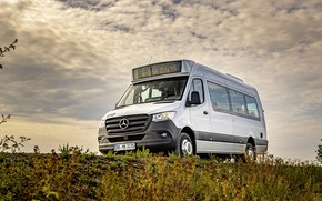 Picture photo, Mercedes-Benz, White, Bus, Car, 2019 Sprinter City