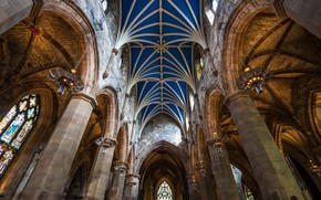 Picture background, interior, St.Giles Cathedral