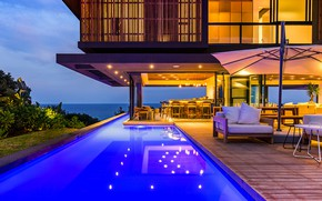 Picture Villa, interior, bar, pool, living room, by Metropole Architects, Dolphin Coast Home