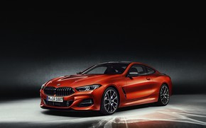 Picture orange, background, coupe, BMW, Coupe, 2018, 8-Series, Eight, G15
