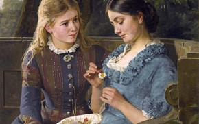 Picture girls, friend, the conversation