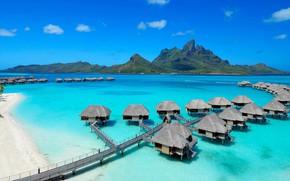 Picture sea, Bora Bora, Bungalow