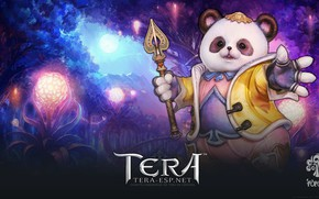 Picture flowers, bear, Tera