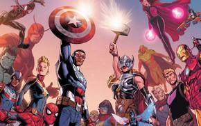 Picture fantasy, Hulk, Iron Man, Marvel, comics, Captain America, superheroes, The Avengers, Spiderman, Ant Man, Thor …