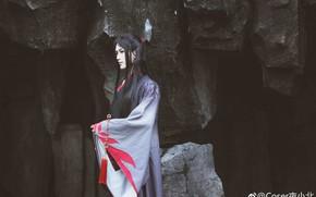 Picture guy, kimono, cosplay, Asian