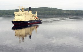 """Picture Water, Icebreaker, The ship, Russia, Taymyr, Atomflot, Nuclear-powered icebreaker, Rosatom, """"Taimyr"""""""